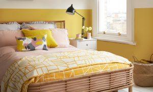 Graziose idee per la camera da letto di colore giallo per mattinate ...