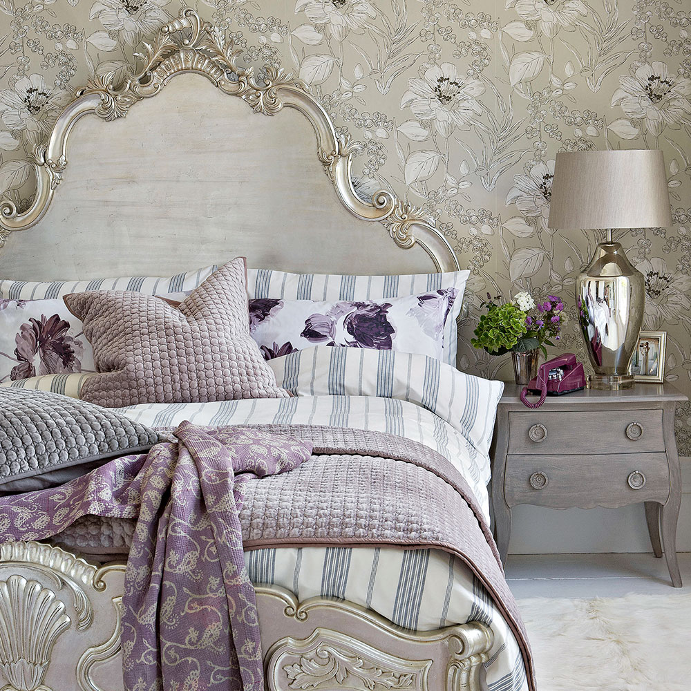 Grey bedroom ideas glamorous bedroom French bed