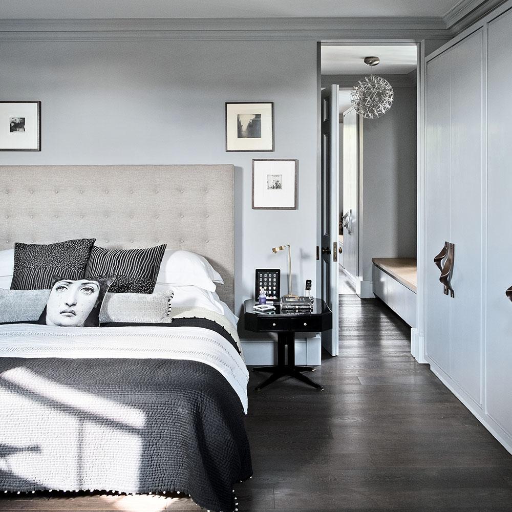 Grey bedroom ideas face cushion