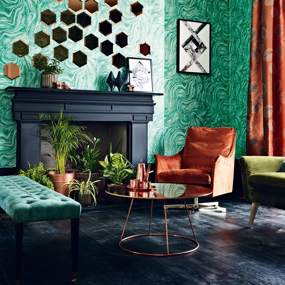 Green-soggiorno-ideas-deep-verde-rame