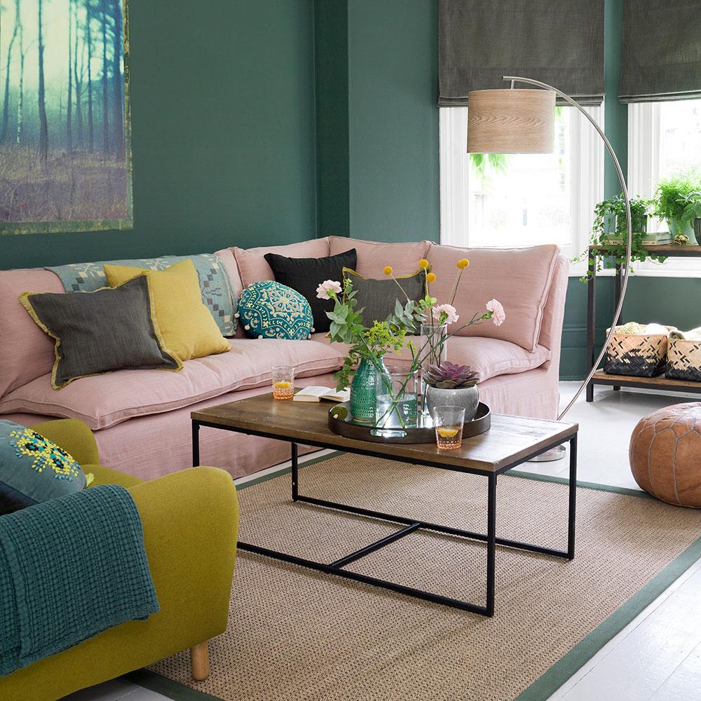Verde-living-room-idee-mix-con-blush rosa