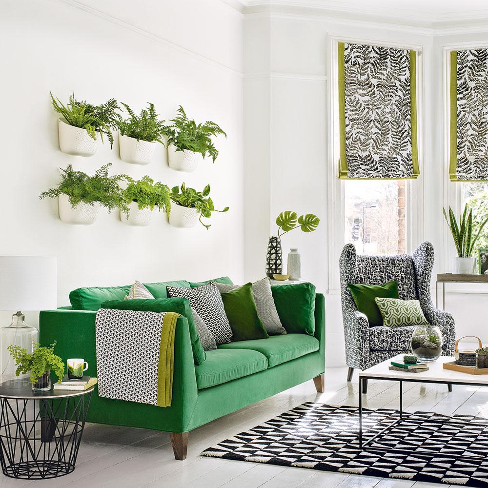 Green-soggiorno-ideas-impianto-wall
