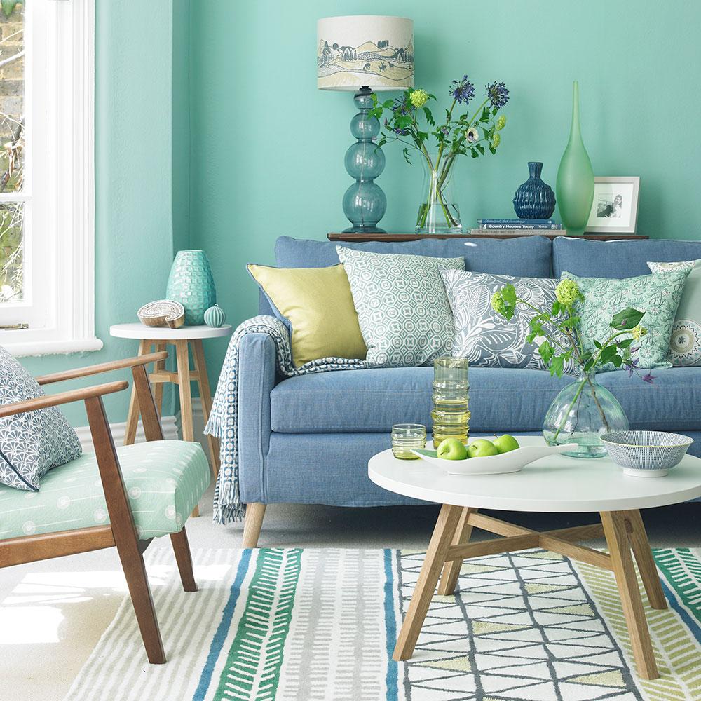 Verde-living-room-idee-menta e blu