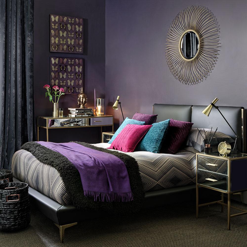 Molto-moderno-glamour-camera da letto