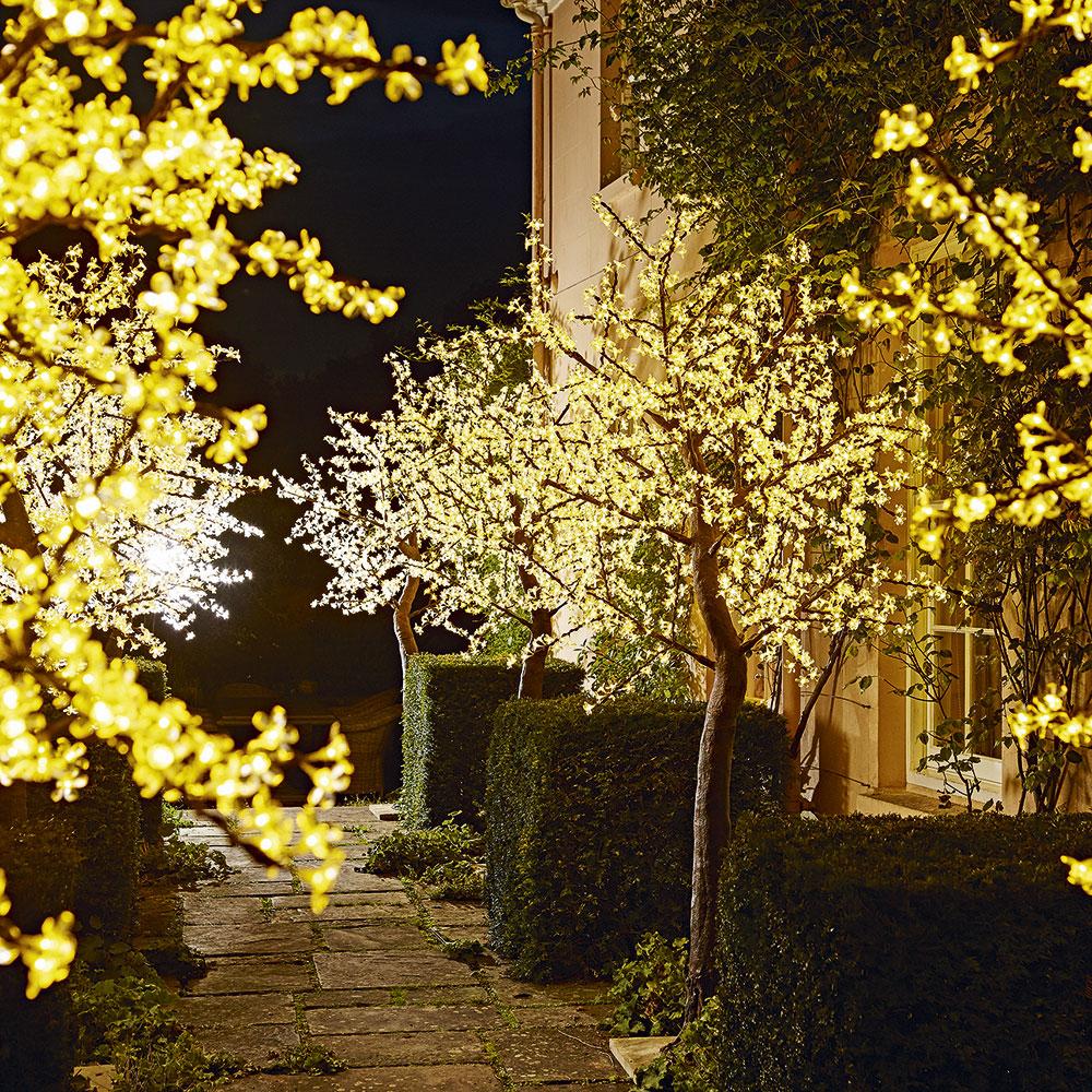 illuminazione del giardino