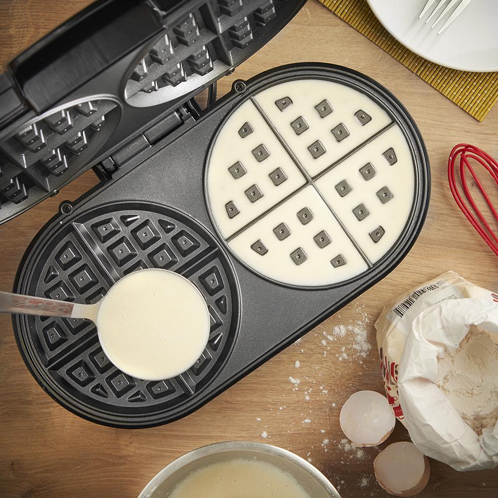 best-cialde-maker-3d. Vonchef dual round waffle maker_domu.co.uk