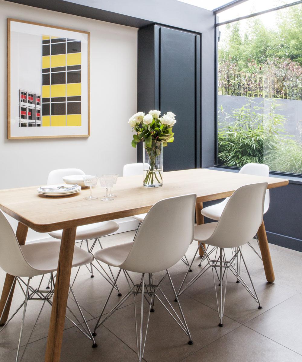 Idee per una piccola sala da pranzo con finestra panoramica